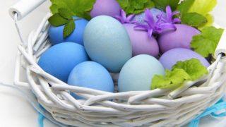 カゴに盛られた卵